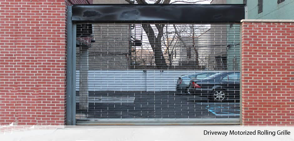 Driveway-motorized-rolling-grille