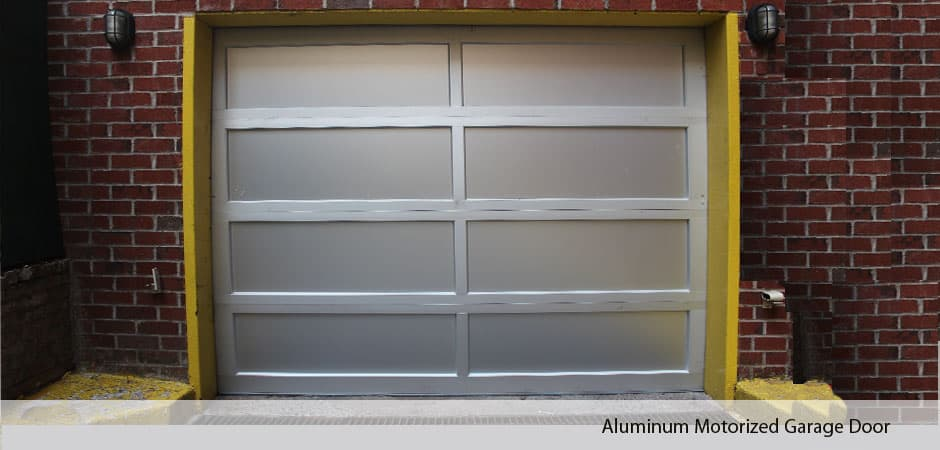 Aluminum-Motorized-Garage-Door