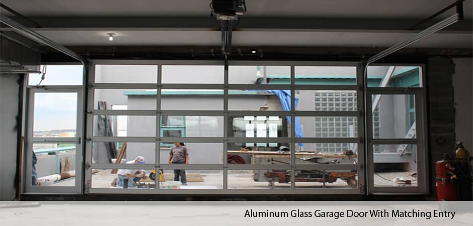 Wonderful Aluminum Glass Garage Door With Matching Entry