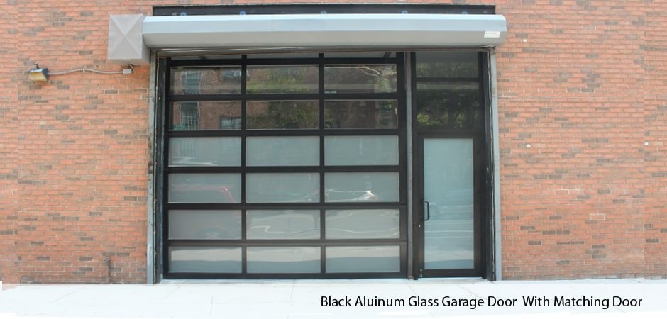 with-matching-door & Residential u0026 Commercial Garage Doors in Manhattan NY