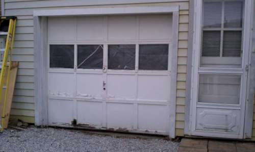 old garage doors