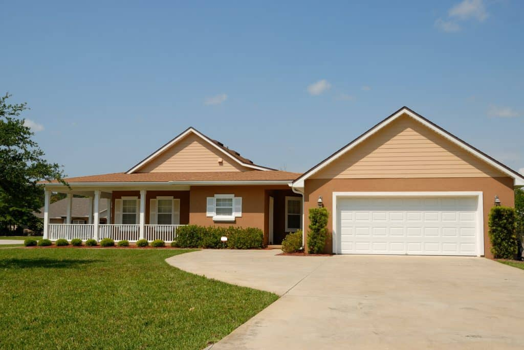 house with a garage door