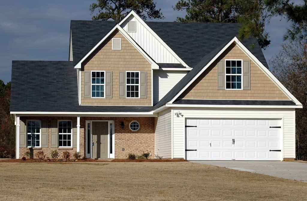house with a garage door springs