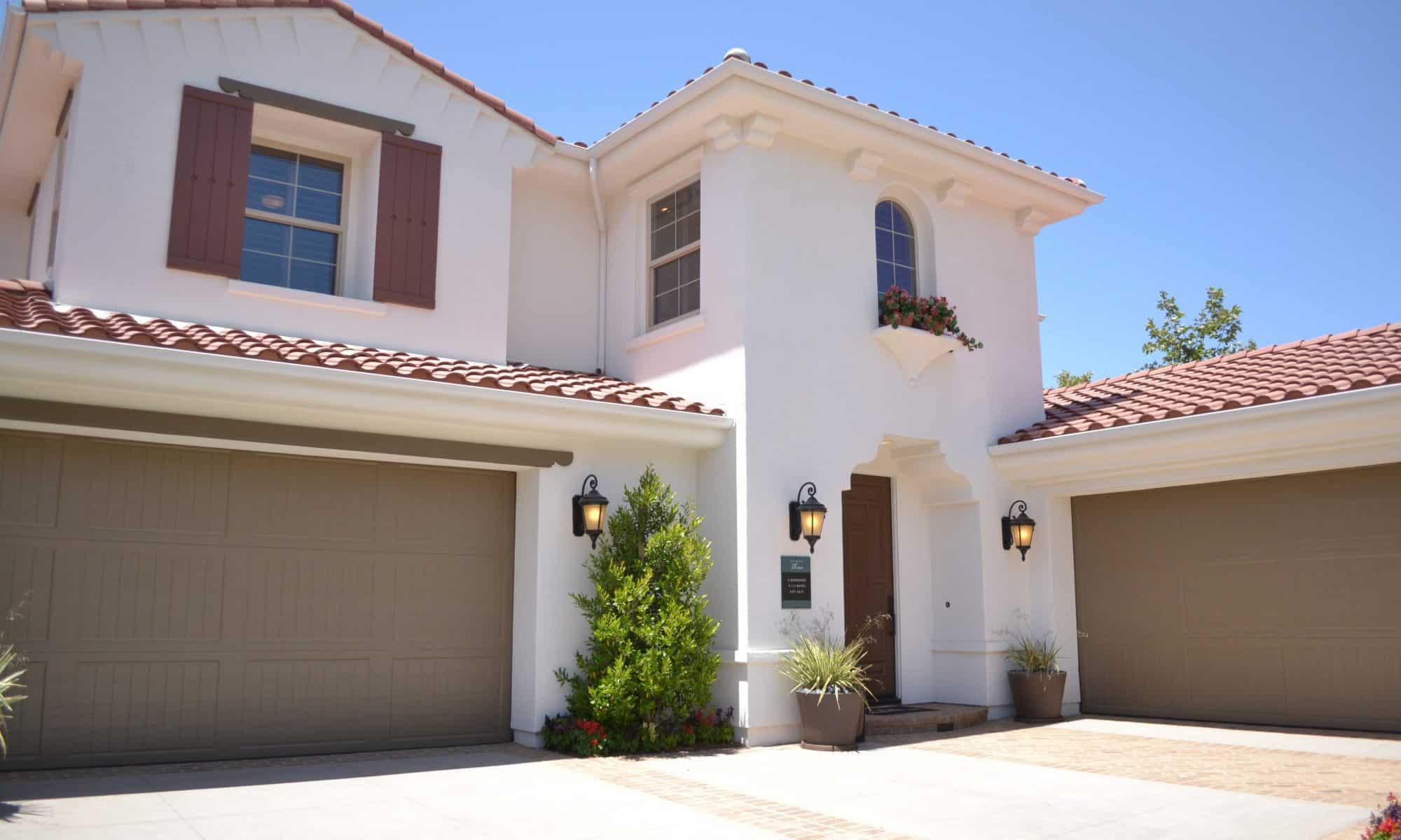 house with garage doors